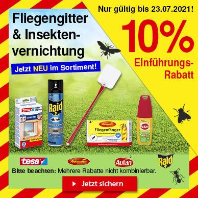10% Rabatt auf Fliegengitter & Insektenvernichtung