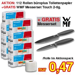 Toilettenpapier + GRATIS Messerset