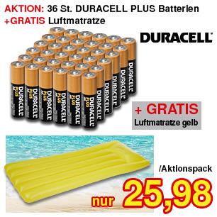 Batterien + GRATIS Luftmatratze