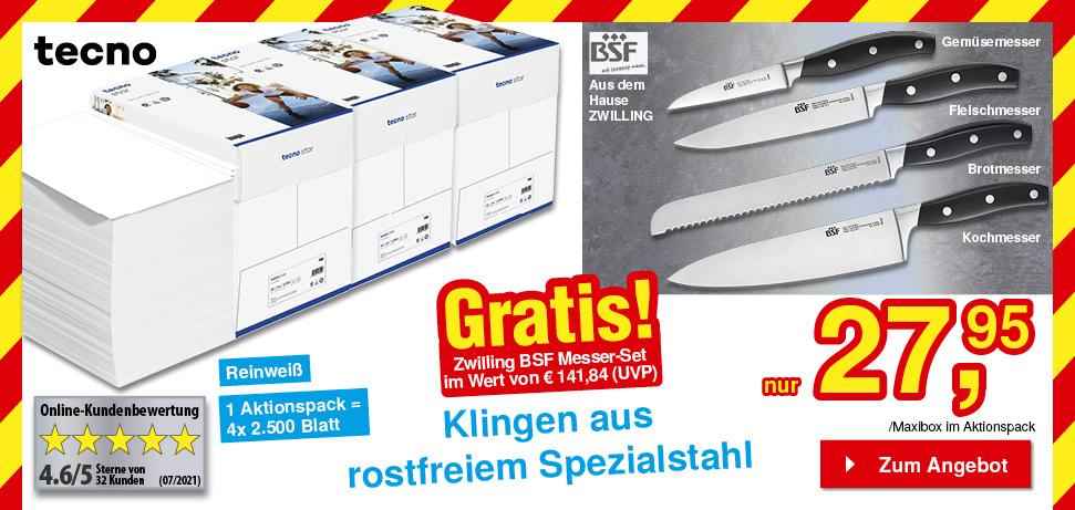 Papier + GRATIS Messer-Set
